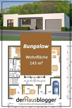 Haus - Traum Finders Homes Flat Roof House Designs, Small House Design, Modern House Plans, Home Design Plans, Home And Living, Floor Plans, Facade, Luxury, Bungalows