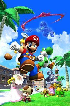 Super Mario Sunshine... Una de las grandes obras que conseguí para jugar en el #GameCube