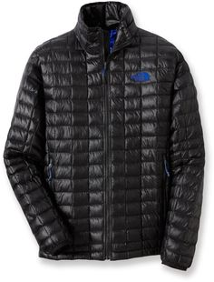 Go light and stay warm with revolutionary new ThermoBall™ synthetic insulation — The North Face Men's ThermoBall Full-Zip Insulated Jacket.