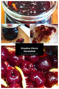 Cherries & Lemon come to play in my Drunken Cherry Marmalade