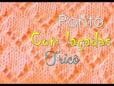 Ponto de tricô com laçadas – Tricotando Crochê