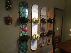 hang your snowboards in your house!
