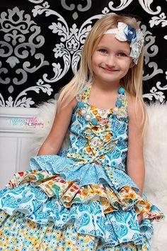 Primrose's Ruffled Corset Princess Dress Sizes NB to Kids and Dolls PDF Pattern Girls Boutique, Fashion Boutique, Create Kids Couture, Primroses, Layered Look, Stunning Dresses, Corset, Ruffles, Dress Up