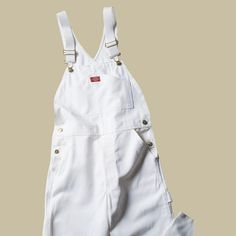 d13458b06d8 Dickies Relaxed Fit 38-32 White Painters Bib Overall-8953WH3832 - The Home  Depot
