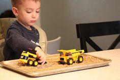 Great idea for tuff spot? Tuff Spot, Sensory Play, Lentils, Trucks, Lenses, Truck