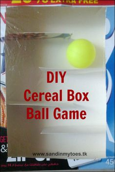 A tutorial to upcycle a cereal box into a ball game for toddlers.