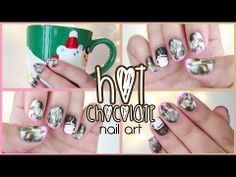 ▶ HOT CHOCOLATE Nail Art #12DaysXmasChallenge - Day 7 - YouTube