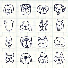 Vector File of Doodle Dog Breed Icon Set stock vector - Clipart. Doodle Drawings, Doodle Art, Easy Drawings, Animal Drawings, Tier Doodles, Doodle Dog Breeds, Dog Drawing Simple, Logo Animal, Free Vector Art