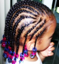 Kids cornrows with Beads