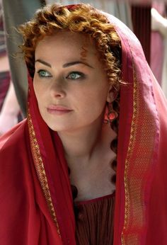 """Polly Walker Online, Polly Walker, Rome HBO -- Is a videos series of dramatic podcasts a """"movie""""? What's the difference? Octavian may have been like that -- Atia certainly, better than the arid & fleshless Atia of Classical Civ 101, anyway..."""