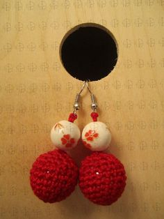 handmade knitted earings