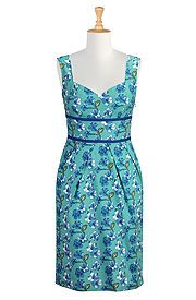 I <3 this Floral print cotton sheath dress from eShakti