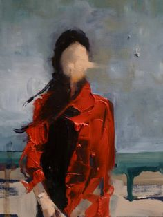 """Saatchi Art Artist: Fanny Nushka Moreaux; Oil 2013 Painting """"October Wind at the Beach (SOLD)"""""""