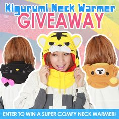 We're giving away three of our Kigurumi Neck Warmers! To enter, follow the link below or click on the image!  http://blog.kigurumi-shop.com/2014/04/win-a-kigurumi-neck-warmer/