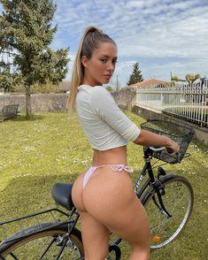 Images of Actresses, Models and all manner of female eye-candy. Bikini Babes, Bikini Girls, Thong Bikini, Bicycle Girl, Bike, Girl Body, Lingerie Models, Girls Wear, Sport Girl