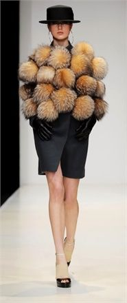 she's being attacked by hedgehogs! Viva Vox  Mercedes-Benz Fashion week Autumn/Winter 2012-2013