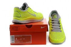 Nike Free 3.0 V4 Womens Wolf Grey Electric Yellow