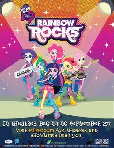 MY LITTLE PONY: Equestria Girls 2 Rainbow Rocks Free Poster