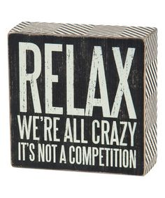 'We're All Crazy' Box Sign by Primitives by Kathy #zulilyfinds
