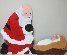Lawn decorations gingerbread and yard art on pinterest for Baby jesus lawn decoration