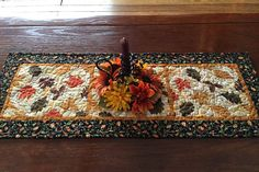 Fall Table Runner Quilted Fall Table Runner Autumn Leaf