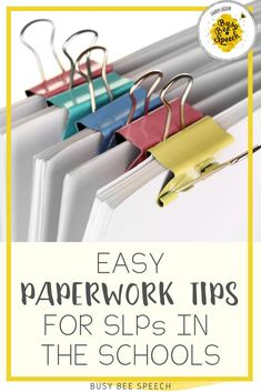 Get a handle on that SLP paperwork with these tips and tricks. It includes all my favorite paperwork ideas for SLPs in one spot.