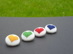Heart stitched buttons - Folksy