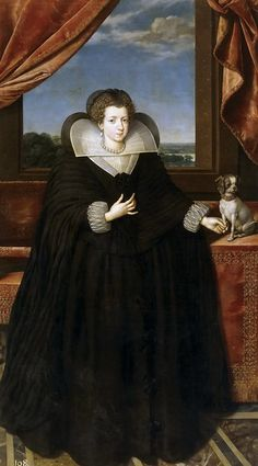 Frans Pourbus the Younger — Portrait of Anne of Austria, Queen of France and wife of Luis XII, : The Prado Museum, Madrid.