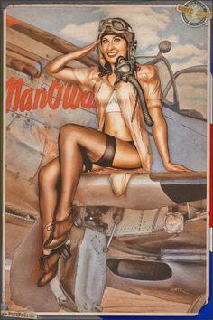 Vandaag & rsquo; s airbrush stijl pinup foto is voorzien van Shauna opknoping uit met haar Noord-Amerikaanse P-51D Mustang!  It & rsquo; s een rustige week op het vliegveld, en ongelooflijk warm voor het Europese platteland.  Shauna kan rsquo van &; t wachten om terug omhoog te gaan in de lucht en is gewoon wachten op de kans om haar Mustang weer op te nemen!  Wist u dat u kunt veel van de pin-ups die je ziet op hier bestellen?  Bekijk ook de Dietz Dolls online winkel waar u militaire…
