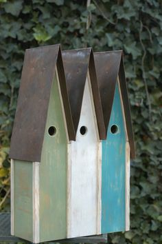 Nantucket Birdhouse - triple
