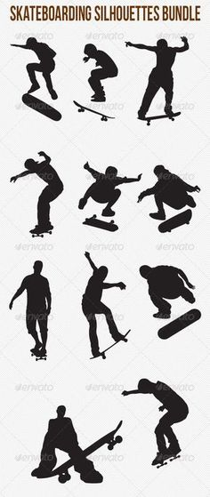 Skateboarding Silhouettes Bundle #GraphicRiver Skateboarding Silhouettes Bundle Pack included: Ai, EPS – version 10 Vector files Easy to edit CMYK colors To buy them separately: graphicriver /item/skateboarding-silhouettes/4799419 graphicriver /item/skateboarding-silhouettes/4799652 Don't Forget to Vote! Created: 30May13 GraphicsFilesIncluded: VectorEPS #AIIllustrator Layered: No MinimumAdobeCSVersion: CS Tags: action #activity #athlete #board #city #clothin #helm #jump #jumping #man #play…