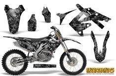"""""""NEW"""" CREATORX Custom Graphics Kit for Honda CRF 450 Honda CRF 250 Graphics do not cover all plastic surfaces. Use of graphics is to visually enhance the look of your vehicle. Honda Dirt Bike, Dirt Bike Gear, Motocross Gear, Cross Wallpaper, Motorcycle Decals, Dirtbikes, Cars And Motorcycles, Kit, Vehicles"""