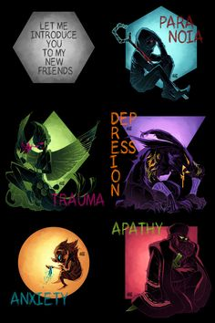 Rise of the Guardians / Nightmare - Jack Frost, Tooth, Bunny, Pitch and North (by GraphiteDoll)<---THIS IS AWESOME