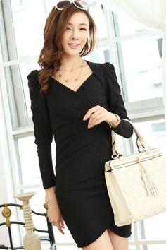 V Neck Cutout Bodycon Dress #OASAP.com  E usando o código TSVZB0AJ você GANHA MAIS 30% de DESCONTO! Válido até 31/12/2013