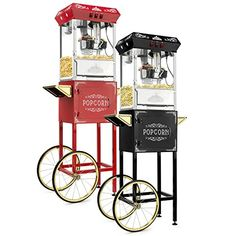 The Olde Midway Vintage Style Popcorn Machine Maker Popper with Cart and Kettle - Black What's The Best Popcorn Maker around you may ask? With thousands Best Popcorn Maker, Pebble Beach Resort, Popcorn Seeds, Tool Shop, Home Theater Rooms, Bike Style, Specialty Appliances, Types Of Flooring, Vintage Fashion