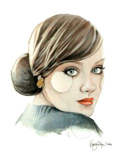 For those of you who love Adele.. here she is in watercolor.