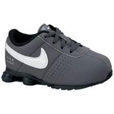 Nike Shox Deliver - Boys' Toddler - Dark Grey/White/Black/Metallic Silver