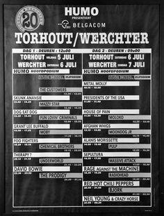 Geschiedenis - Rock Werchter 1996