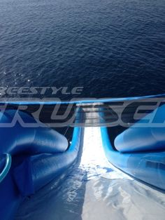 View of a FreeStyle Cruiser inflatable water slide! #Yachts #YachtToys #YachtWaterToys