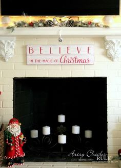 DIY Believe in the Magic of Christmas Sign - DIY TUTORIAL - #artsychicksrule #Christmassign #believesign #homeforchristmas