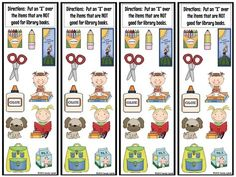 """Taking care of books is an important lesson to go over with the students in the beginning of the school year. I usually start out reading the book """"Mr. Wiggle's Library"""" and """"Mr. Wiggle's Book"""" by Paula M. Craig and Carol L. Thompson. I found this really cute idea last year (I'm trying to find...  Read more Library Rules, Library Themes, Library Skills, Library Activities, Library Books, Library Ideas, Library Signage, Library Design, Kindergarten Library Lessons"""
