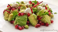 Avocado,pomegranate,goat cheese and beetroot salad
