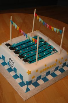 Swimming Pool Birthday Cake for a swimmer who celebrated his birthday! Pool Birthday Cakes, 12th Birthday Cake, Pool Party Cakes, Pool Cake, Swim Cake, Cake Central, Fondant Cakes, Cupcake Cakes, Cupcakes