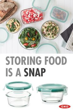 From bringing lunch on the go to finding a place for homemade treats in your freezer, OXO's leak proof SNAP Glass Containers make storing food...well...a SNAP! Visit oxo.com to learn more and get yours today.
