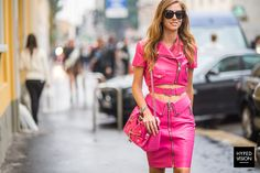 Chiara Ferragni wearing Moschino in Italy, Milan during Spring/Summer 2015 - Street Style Photography by Manuel Pallhuber