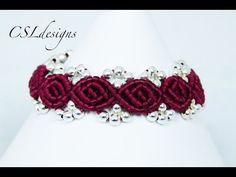 Rosebud macrame bracelet - YouTube