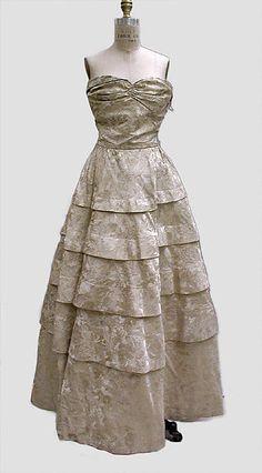 F/W 1939-40  Edward Molyneux | Evening dress | French | The Metropolitan Museum of Art