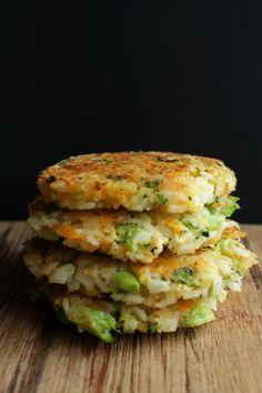 broccoli cheddar rice patties www.petitfoodie.com