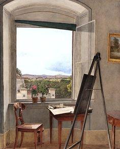 Jakob Alt (Austrian, 1789–1872) View from the Artist's Studio in the Alservorstadt toward Dornbach, 1836 Watercolor over graphite on paper; 20 1/2 x 16 5/8 in. (51.2 x 42.1 cm) Albertina, Vienna