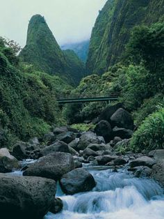 Iao Valley, Maui.  Have spent many hours exploring and photographing this wonder of nature's handiwork. Gorgeous views of waterfalls and the ocean on clear days.